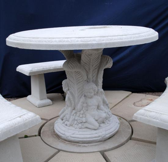 Fluted Top Table Set