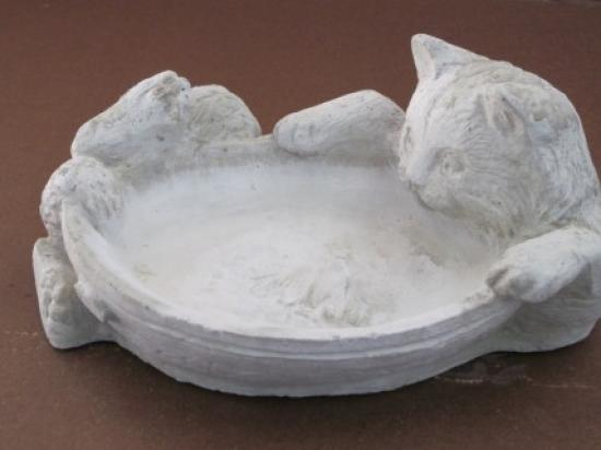 Cat with Fish in Bowl 12